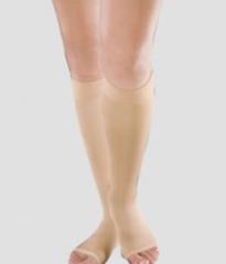 Компрессионные гольфы женские плотные, с открытым носком