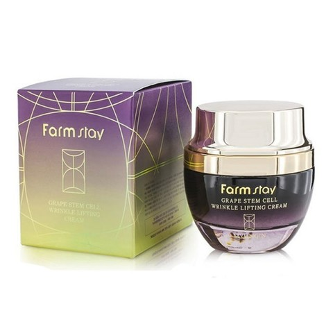 Лифтинг-крем для лица FarmStay Grape Stem Cell Wrinkle Lifting со стволовыми клетками винограда, 50