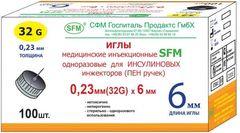 Иглы для шприц - ручек SFM 6 мм ( 31G, 30G)