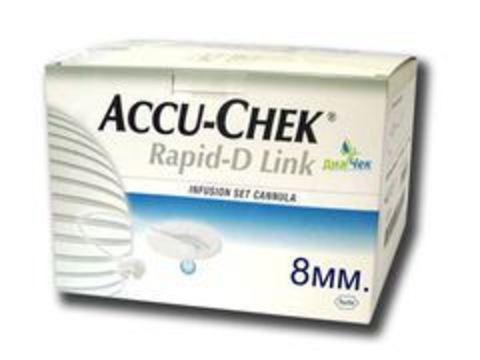 Набор инфузионный Акку-Чек Рапид-Д Линк с иглой 8мм Accu-Chek Rapid-D Link Cannula 8